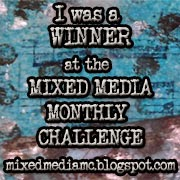 Winner at Mixed Media Monthly