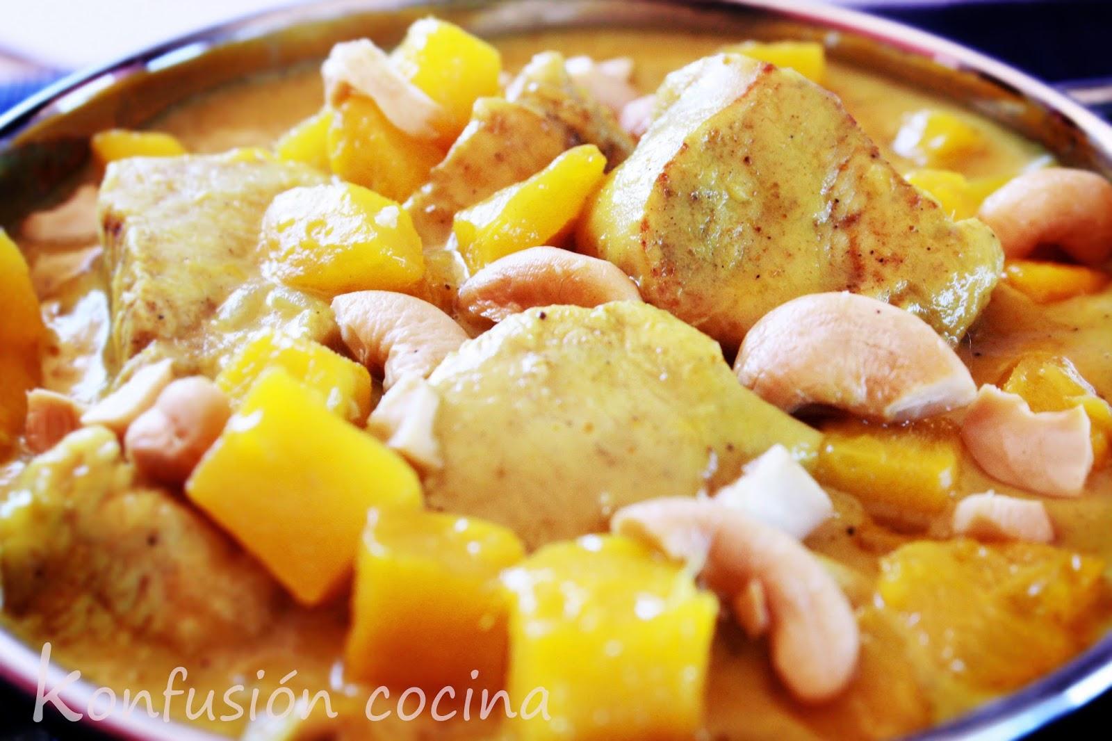 MANGUE Curry de poulet crème de coco SUCRE BRUN LIMA délicieux CREME FRAICHE SPICY Indu ACIDE DOUX ORIENTAL nourriture épicée FACILE