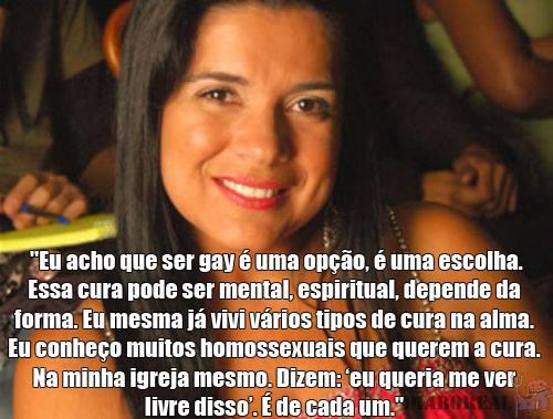 Mara Maravilha se declara contra gays