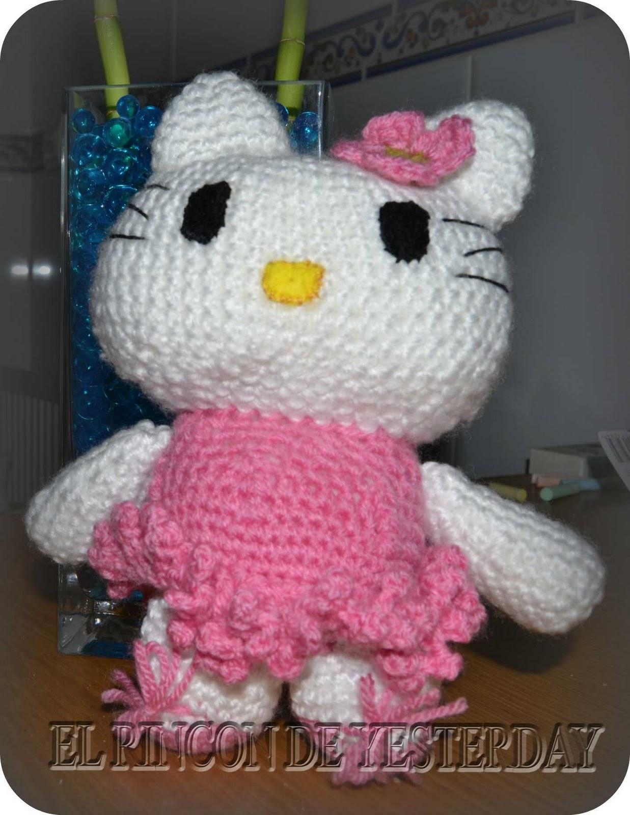 Amigurumi Gatita Kitty : El Rincon de Yesterday: Hello Kitty Bailarina Amigurumi