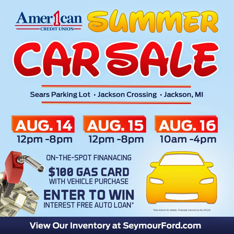 Seymour Ford & American 1 Credit Union Summer Car Sale!