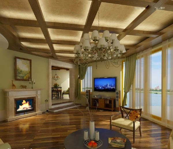 Led false ceiling lights for living room led strip lighting ideas in the interior Overhead lighting living room