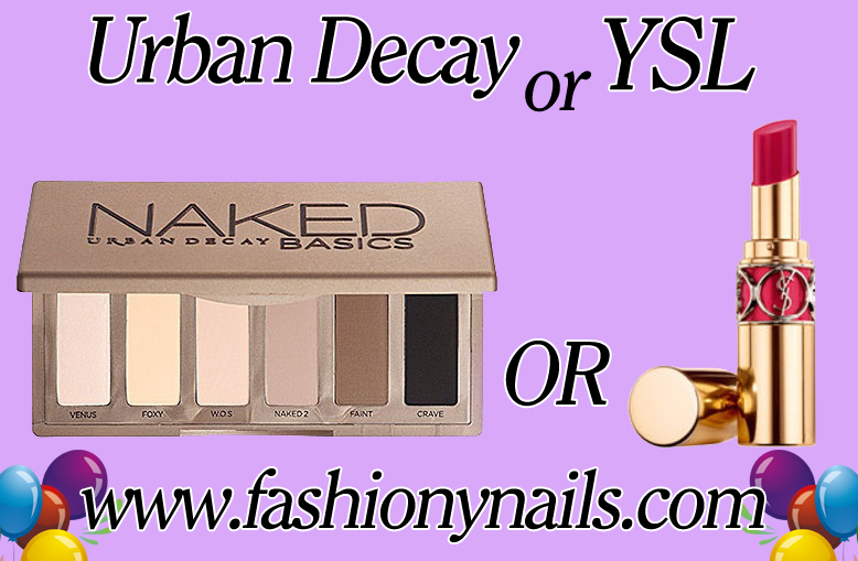 YSL lipstick and Naked Basics giveaway