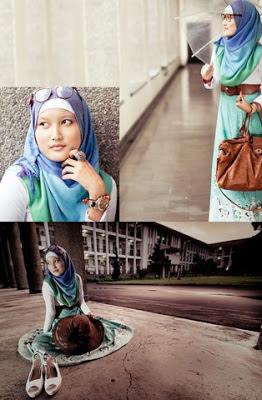 Gambar cara memakai jilbab cantik