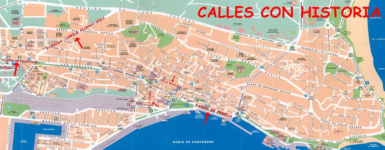 Calles de santander mapa santander i for Mapa santander sucursales