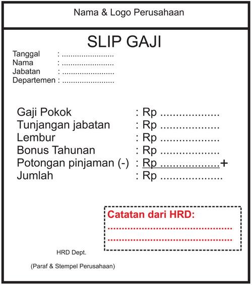 Contoh Slip Gaji 2