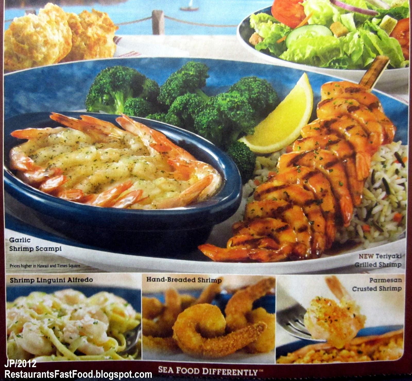 Red Lobster Seafood Restaurant Endless Shrimp Promotion All You Can Eat Fried Teriyaki Scampi Parmesan