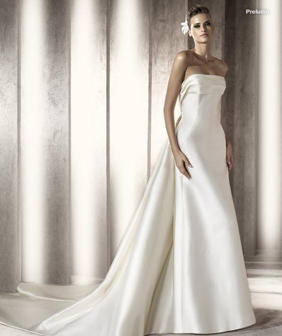 todo sobre bodas: vestido de novia preludio pronovias 2012 manuel mota