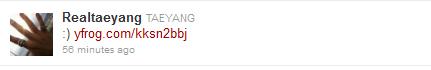 Τwitter update Tae+tweet+1