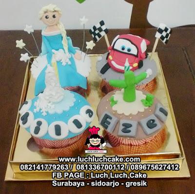 Cupcake Frozen dan Cars Daerah Surabaya - Sidoarjo