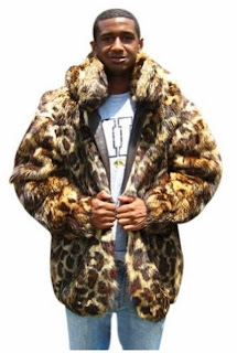 Bergama Mens Animal Print Coyote Parka - Multicolor