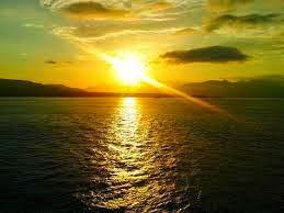 gambar matahari terbit atau terbenam