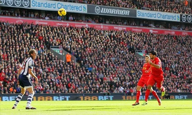 Luis Suarez Spectacular hat trick against West Brom