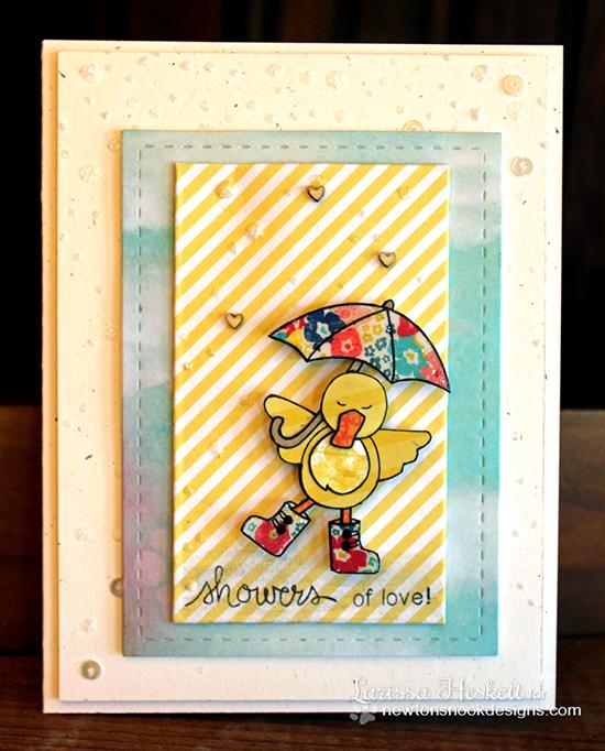 Cute duck card by Larissa Heskett for Newton's Nook Designs!
