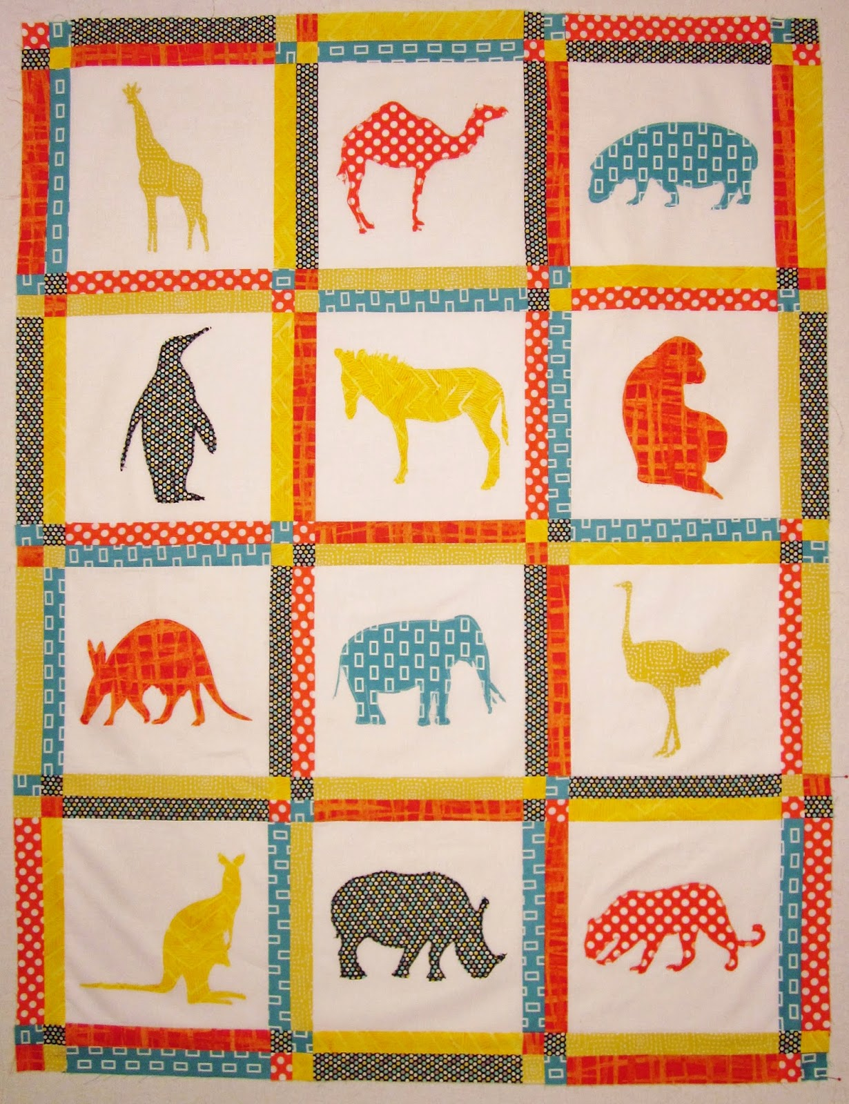 Zoo Animals Baby Quilt