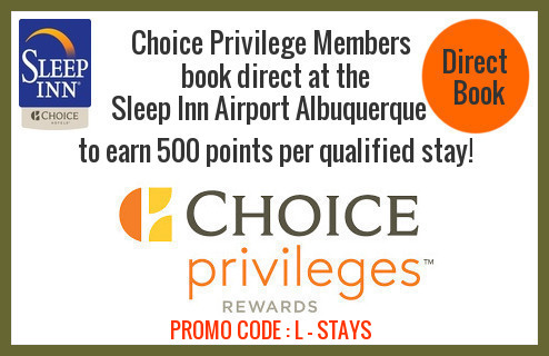 Book Direct: Call 505-244-0423. Promo Code: L-STAYS.
