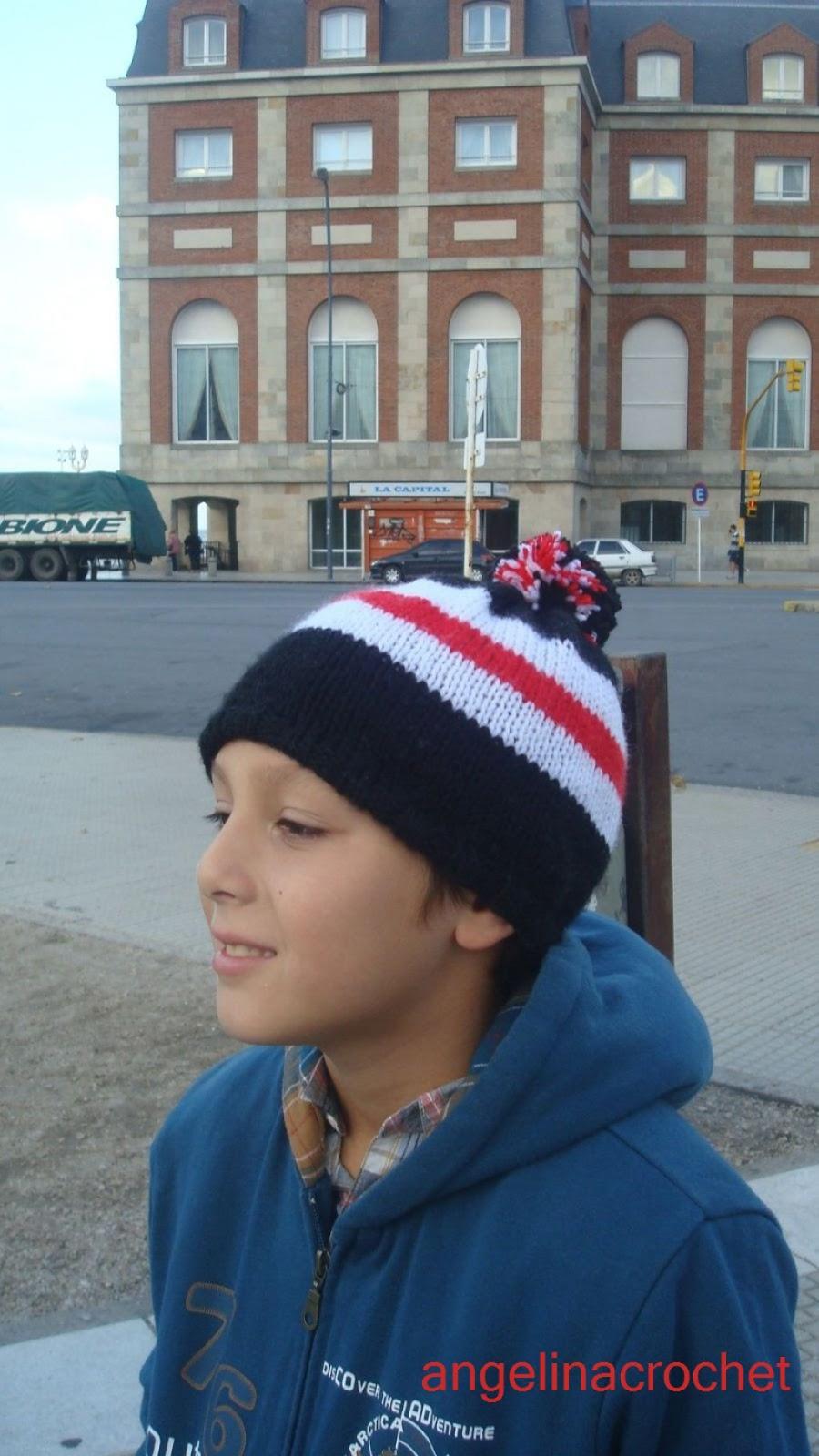Angelina -crochet and more-: Gorro River Plate-niños-
