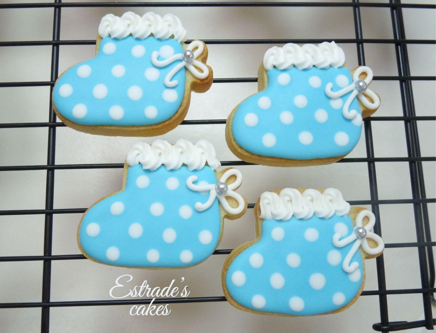 galletas para bautizo decoradas con glasa - patuco