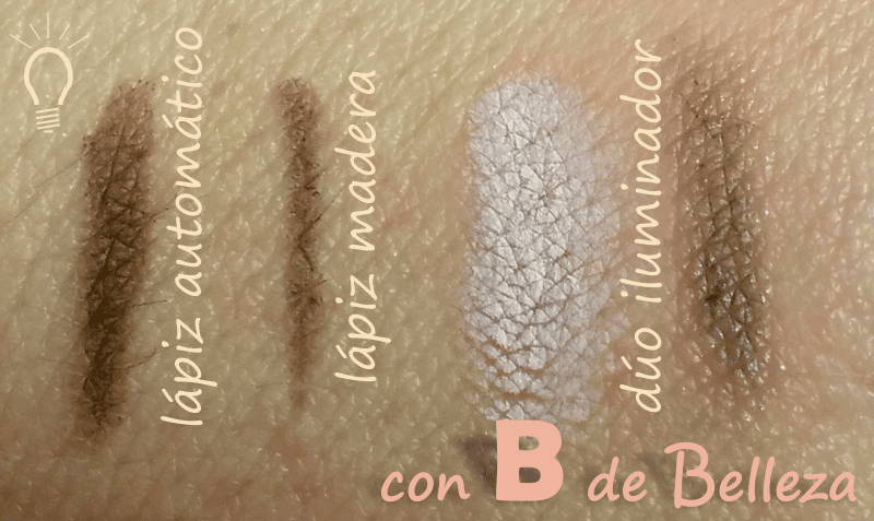 Swatches lápices cejas Mercadona