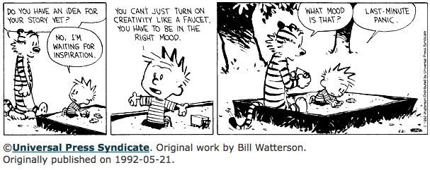 Procrastination and Laziness Calvin_lastminutepanic