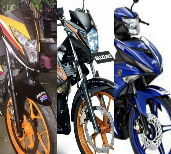 Perbandingan Spesifikasi Honda New Sonic 150R VS Suzuki Satria 150 VS Jupiter MX King 150
