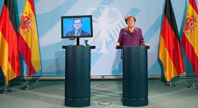 Montaje comparecencia Rajoy y Angela Merkel