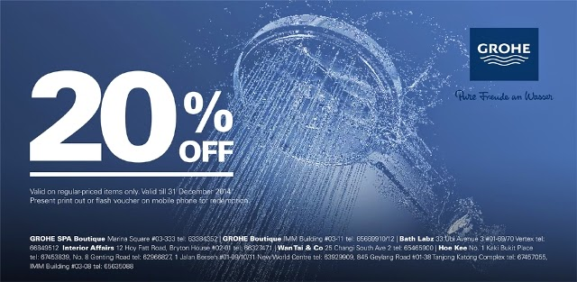 grohe discount voucher luxury haven