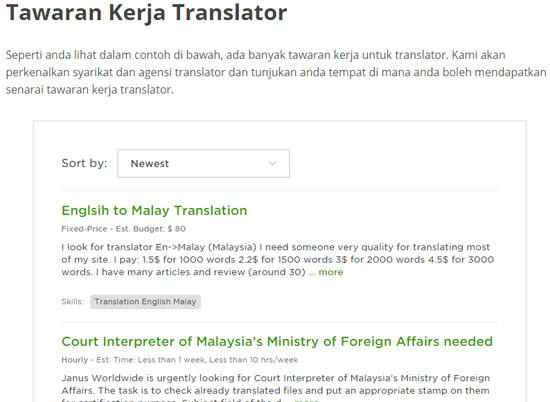 Jana Income Sampingan Sebagai Translator Online