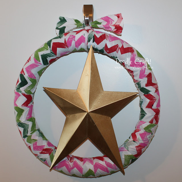http://doodlecraft.blogspot.com/2013/07/christmas-in-july-chevron-star-wreath.html