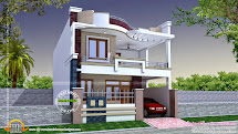 Modern Indian Home Design - Kerala And Floor Plans