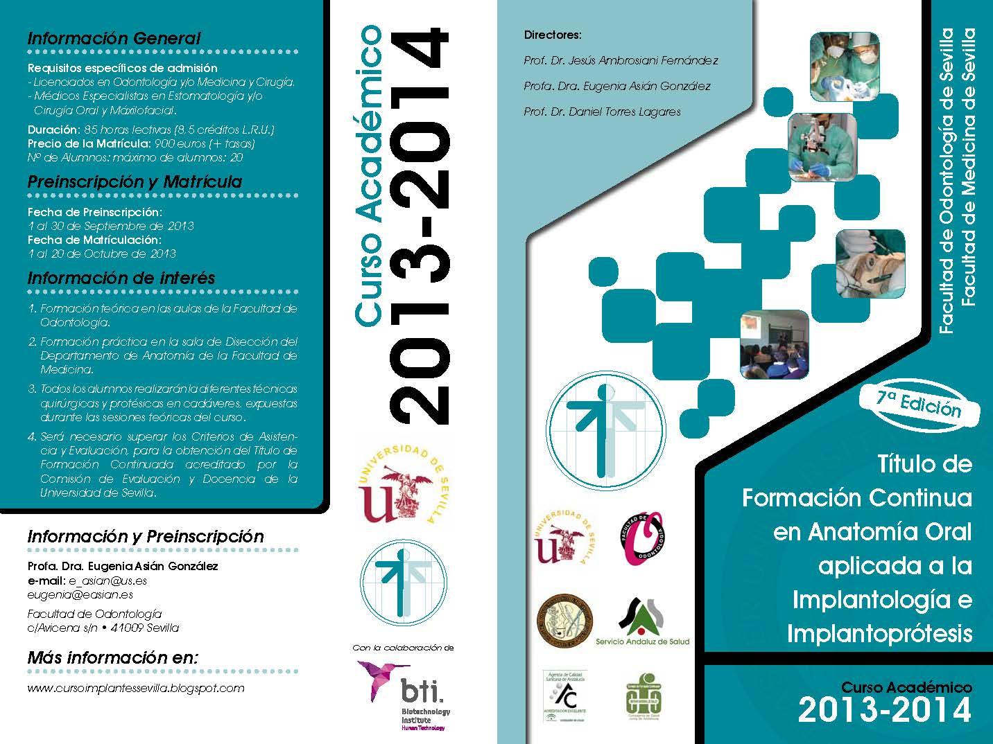 Curso Implantes en cadaveres Universidad de Sevilla: NUEVO CURSO. 7ª ...