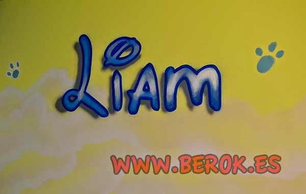 Graffiti con el nombre de Liam