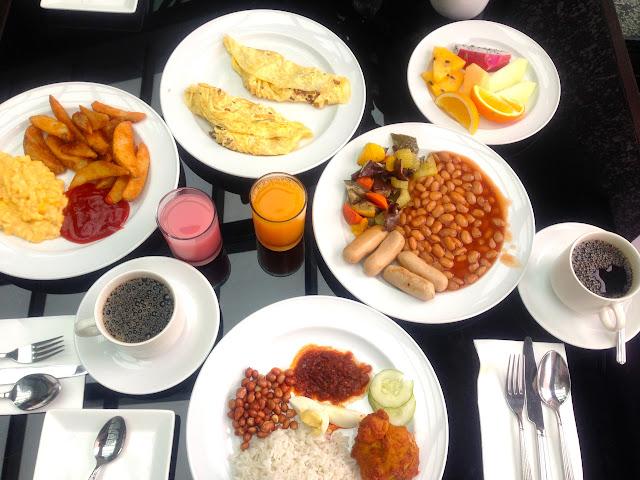 Breakfast spread at Impiana KLCC Hotel