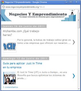 Crear la versión móvil de un blog de blogger