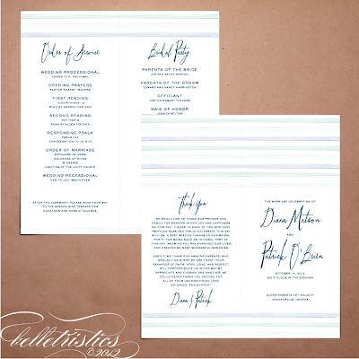 printable diy ombre water color wedding ceremony program