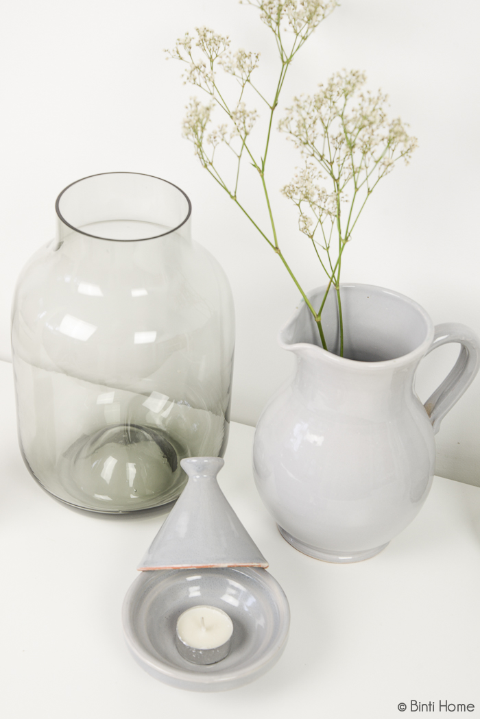 Pure with green woonaccessoires grijsgroen en wit - Binti Home Shop