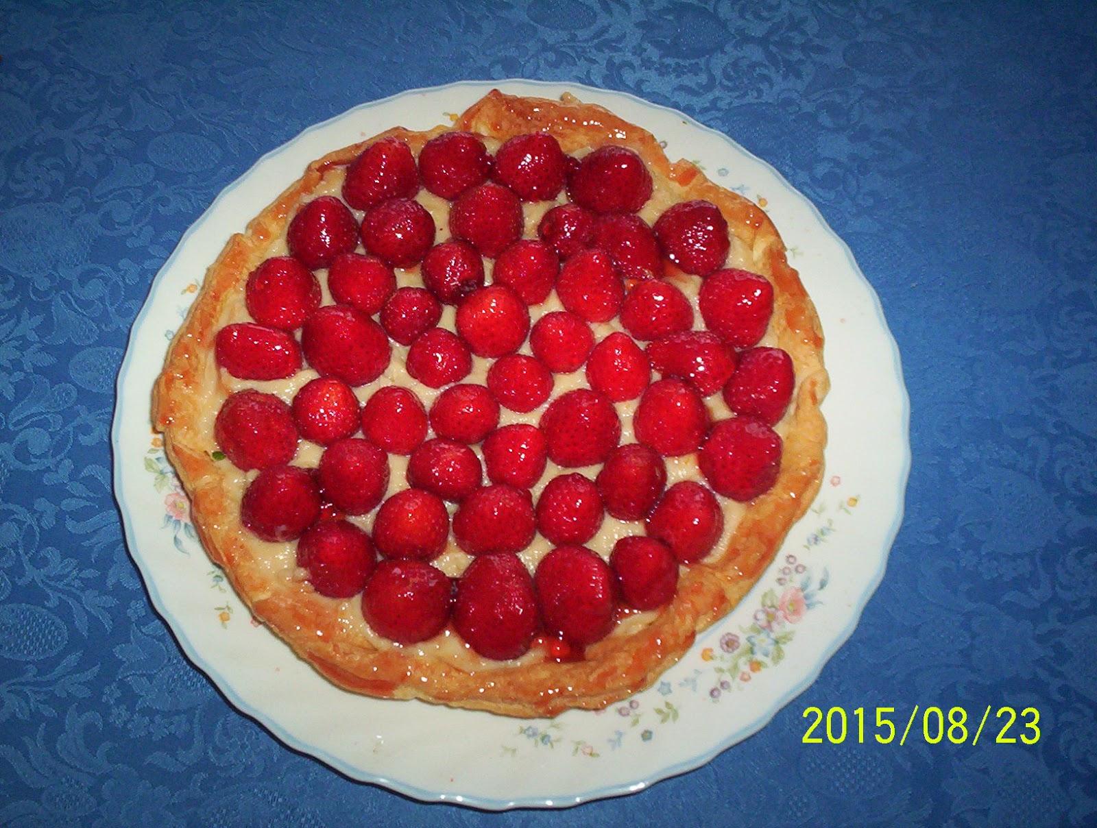 le des 3 filles tarte aux fraises de madeleine