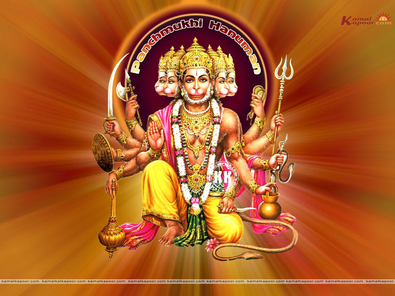 Panchmukhi Hanuman Lord Panchmukhi Hanuman Hindu God Wallpapers