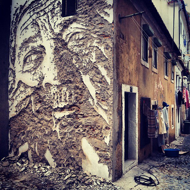 Street Art By Vhils In Alframa