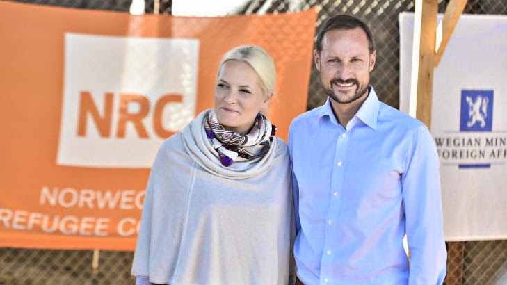 Prince Haakon and Princess Mette-Marit visits the Jordan
