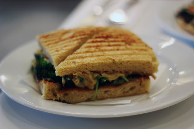 peacefood cafe bakery review vegan panini