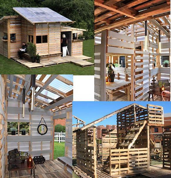 El mundo del reciclaje pallet house o como reciclar 100 pal s - Reciclaje de pales ...