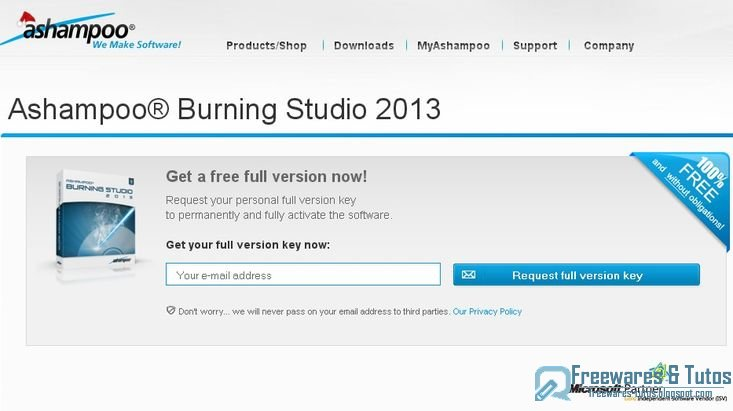 Offre promotionnelle ashampoo burning studio 2013 for Adresse direct 8