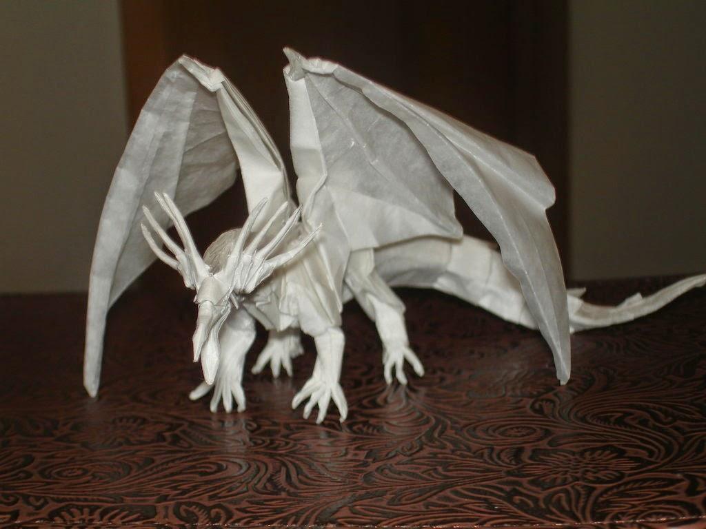 paper origami dragon