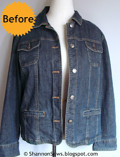 Taper a bulky jacket - before photo