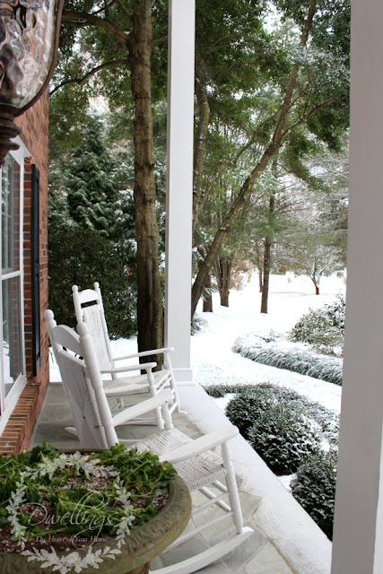 Snowy views from the front porch.