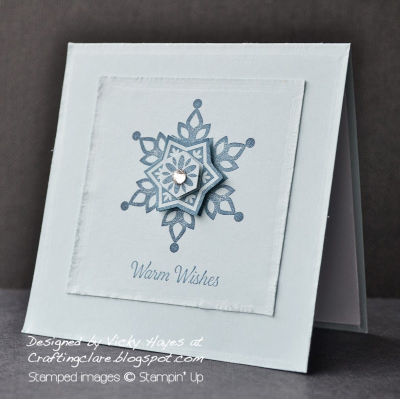 Crafting clare makes a Christmas card with Festive Flurry from Stampin' Up