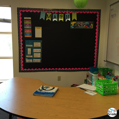 Small group area used for math lessons