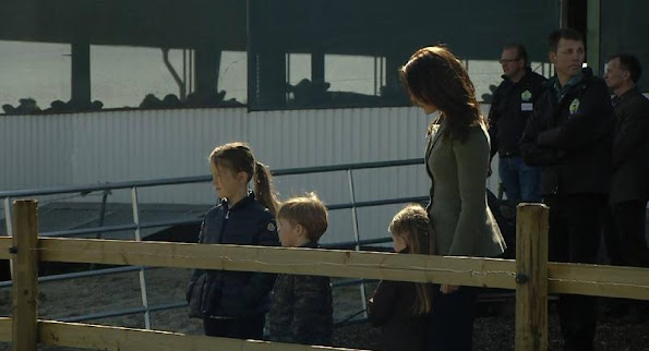 Crown Princess Mary of Denmark with her children Prince Christian and Princess Isabella attended the opening of Eco day 2015 (Økodag) in Zealand Island