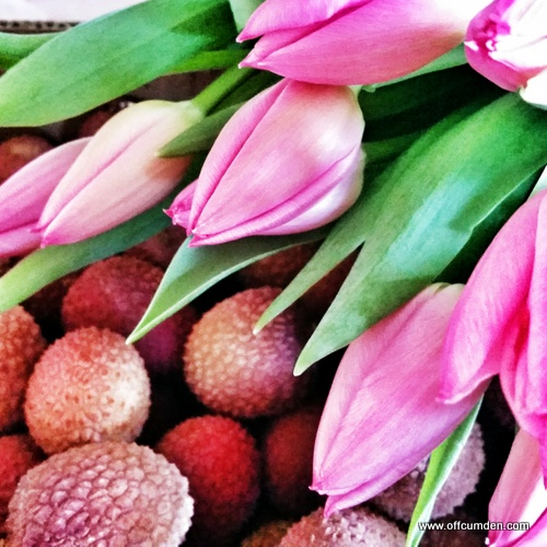 tulips and lychees